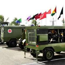 Some of the 31 pieces of military equipment donated to the GDF by the Chinese People's Liberation Army