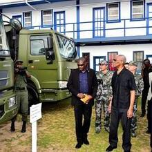 President Granger and Ambassador of the People's Republic of China to Guyana, Mr. Cui Jianchun Inspecting vehicles